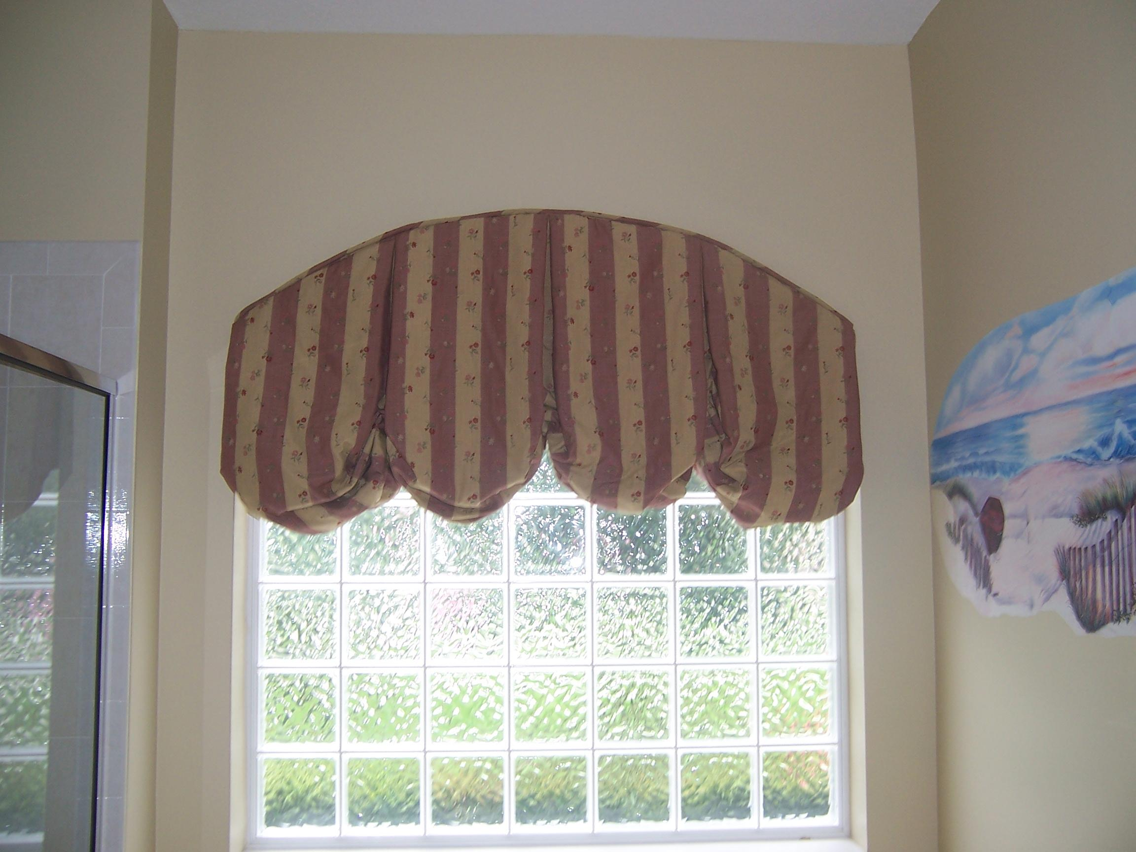 arched balloon valance